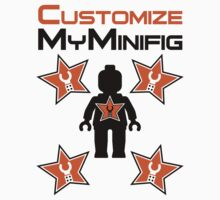 Minifig with Customize My Minifig Star Logos by Customize My Minifig