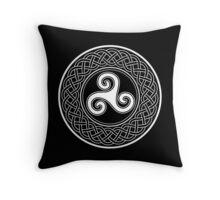 Celtic shield symbol Throw Pillow