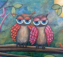 Moonlight Owls by Kristy Spring-Brown