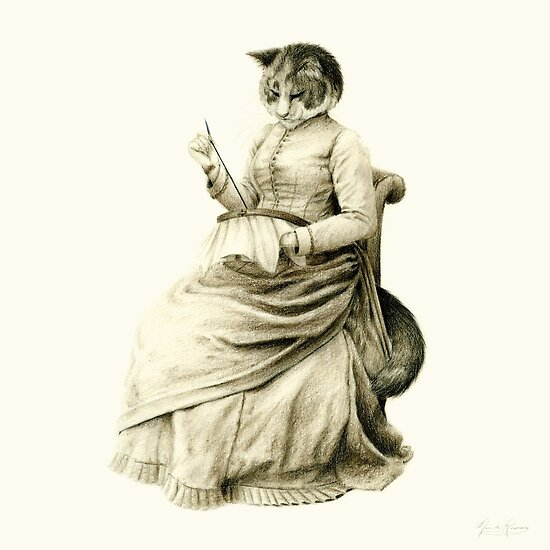 Victorian Cat Series 05 by mirzers