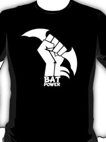 BATMAN POWER - BLACK POWER - BAT POWER ( white ) T-Shirt