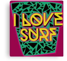 i love surf Canvas Print