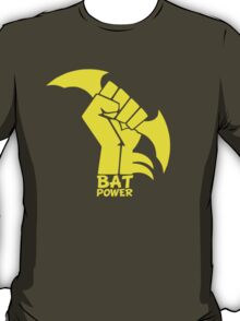 BATMAN POWER - BLACK POWER - BAT POWER ( yellow ) T-Shirt