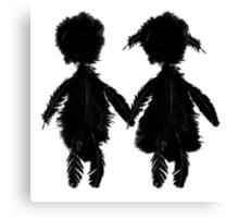 Depeche Mode : Angels Boy and Girl - 1 - Black Canvas Print