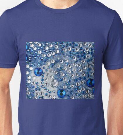 "BLUE ""RHINESTONED DENIM"" Unisex T-Shirt"