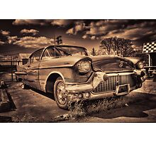 The old Cadillac  Photographic Print