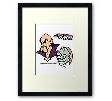 Walter the Wicked & Smeagor! Framed Print