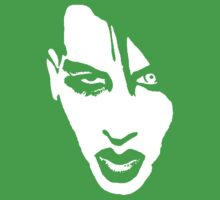 Stencil Marilyn Manson Face Kids Clothes