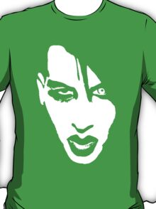 Stencil Marilyn Manson Face T-Shirt