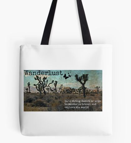 Wanderlust Travel Quote Collection Tote Bag
