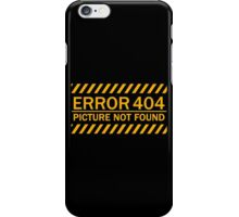 ERROR 404 picture not found yellow  iPhone Case/Skin
