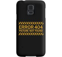 ERROR 404 picture not found yellow  Samsung Galaxy Case/Skin