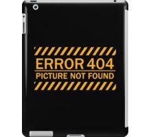 ERROR 404 picture not found yellow  iPad Case/Skin