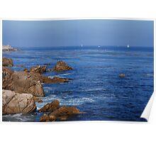 Breathtaking Blue Ocean Scene Poster