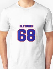 National football player Derrick Fletcher jersey 68 T-Shirt