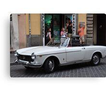 White Fiat Canvas Print