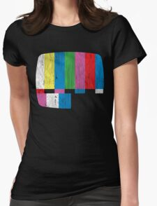 Test Pattern Womens Fitted T-Shirt