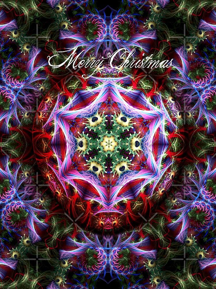 Christmas Fractalart Card by webgrrl