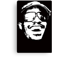 Stencil Stevie Wonder Canvas Print