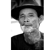 smoking man Photographic Print
