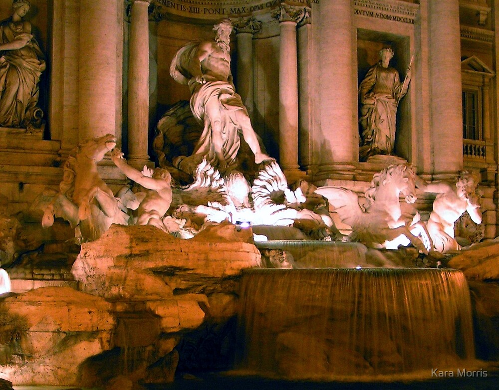 The Trevi at Midnight by Kara Morris