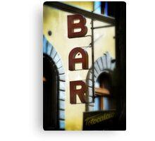 A Bar in Chianti Canvas Print