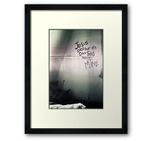 Jesus died.... Framed Print