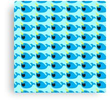 Cute Narwhale happy pattern Canvas Print