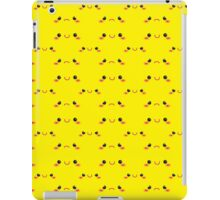 Cute KAWAII little happy and sad faces in yellow like pikachu iPad Case/Skin