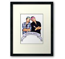 Misha and Jensen Framed Print