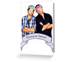 Misha and Jensen Greeting Card