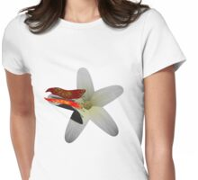 Butterly on a flower Womens Fitted T-Shirt