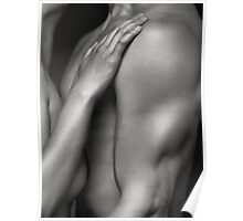 Closeup of Naked Woman and Man Body Parts art photo print Poster