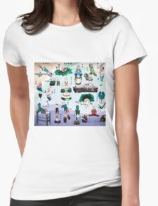 Kung Fu wall mural in China art photo print Womens Fitted T-Shirt