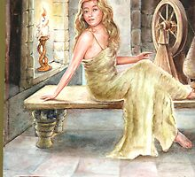 A beautiful girl in her castle by irene garratt