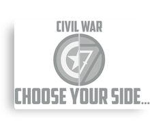 Marvel Civil War - Choose Your Side V.01 Canvas Print