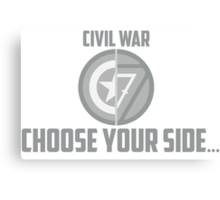 Marvel Civil War-Choose Your Side Canvas Print