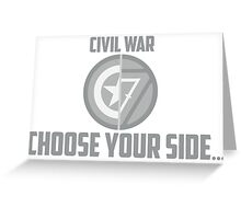 Marvel Civil War - Choose Your Side V.01 Greeting Card