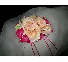 Tia Monica wedding headpiece- wedding art  Photographic Print