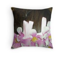kaylee - wedding headpiece - a work of fine art  Throw Pillow