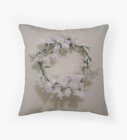 essence of heidi - wedding headpiece - antiqued  Throw Pillow