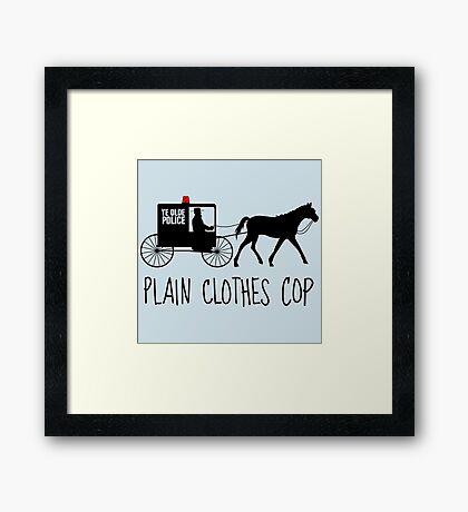 Plain Clothes Cop Framed Print
