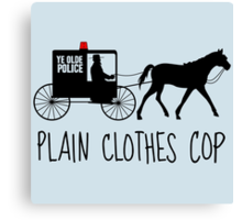 Plain Clothes Cop Canvas Print