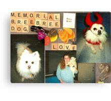 Memorial to Bree Bree Canvas Print