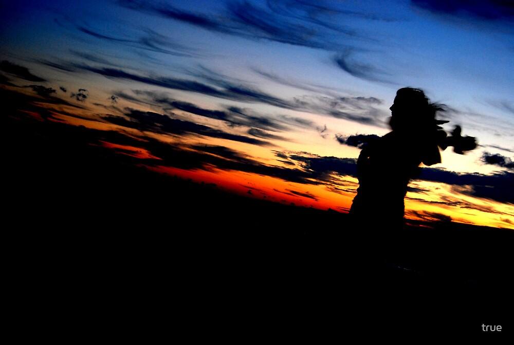 windy sunrise by true