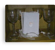 embraced - carols holy wedding bible   Canvas Print