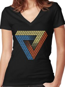 Penrose Puzzle Women's Fitted V-Neck T-Shirt