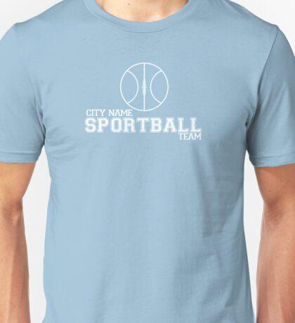 City Name Sportball Team Unisex T-Shirt