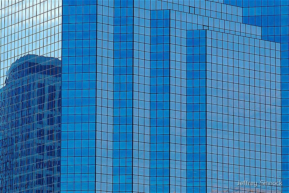 Building in blue by Jeffrey  Sinnock