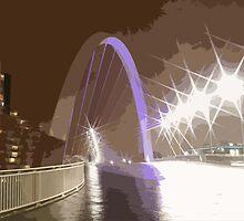 clyde bridge at night by CALMAC